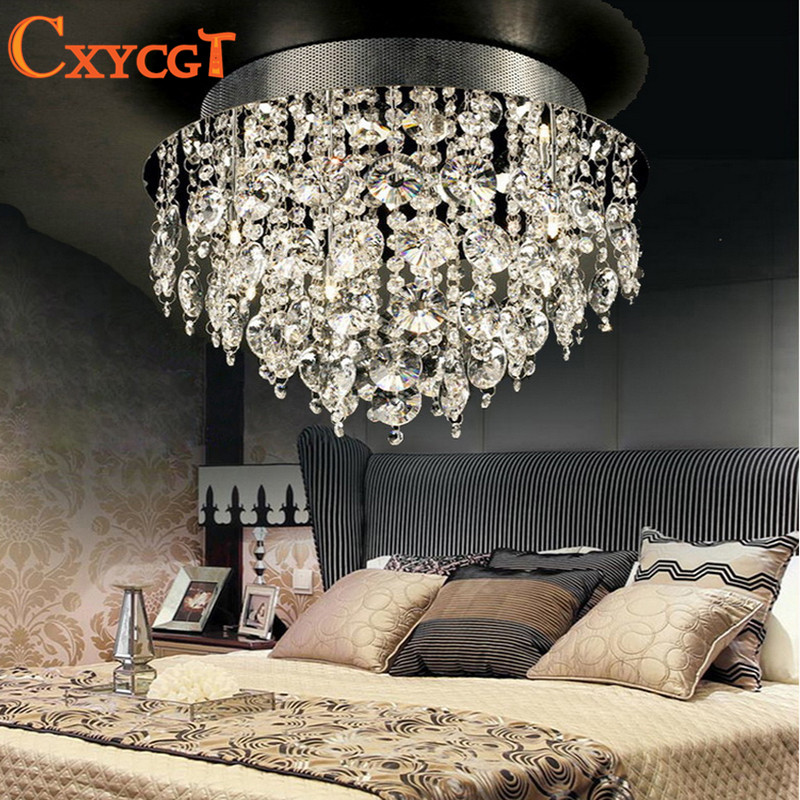 Circular Vanity Lustre Led k9 Crystal Chandelier Light Fixture Home Lighting Kitchen Dining Room Lamp Crystal Pending