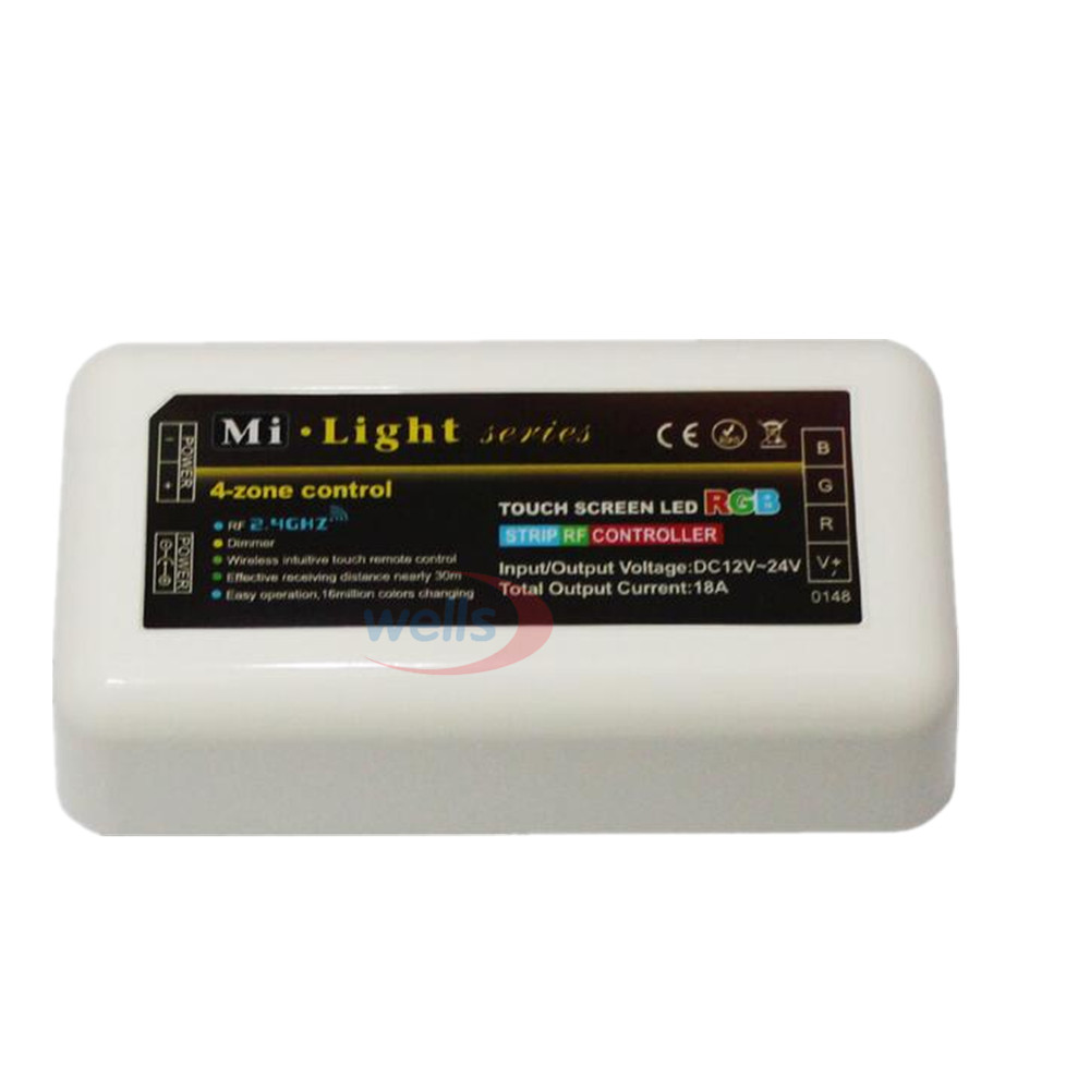 Mi Light 2.4G 4-Zone RF Wireless  single/RGB/RGBW LED Controller Dimmer for For 5050 3528 RGBW Led Strip Light bulb la