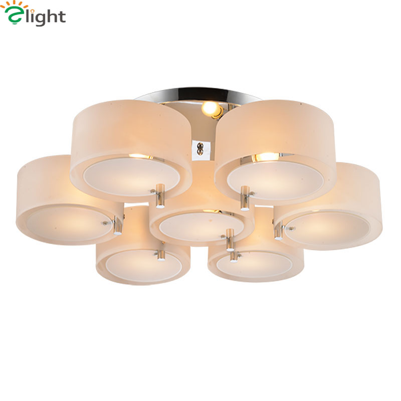Modern Simple Mult-Rings Led Ceiling Chandeliers Lamp Lustre Acrylic Chrome Metal Dining Room Led Chandelier Lighting Lights