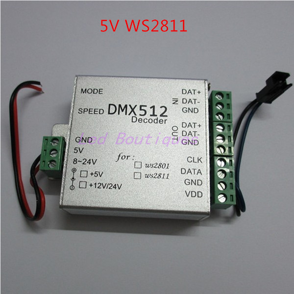 Best price 1 pcs WS2811 DC5V DMX LED RGB Controller dmx512 decoder controller for led strip light led lamp