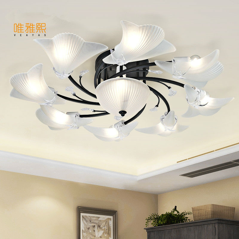 Mordern  Retro Bulb Light Chandelier Vintage Loft Antique   glass  Art  Ceiling Lamp Fixture Light
