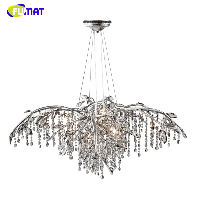 FUMAT American Vintage Crystal Chandelier LED Artist Metal Light For Living Room Hotel Creative Resturant K9 Crystal Chandeliers