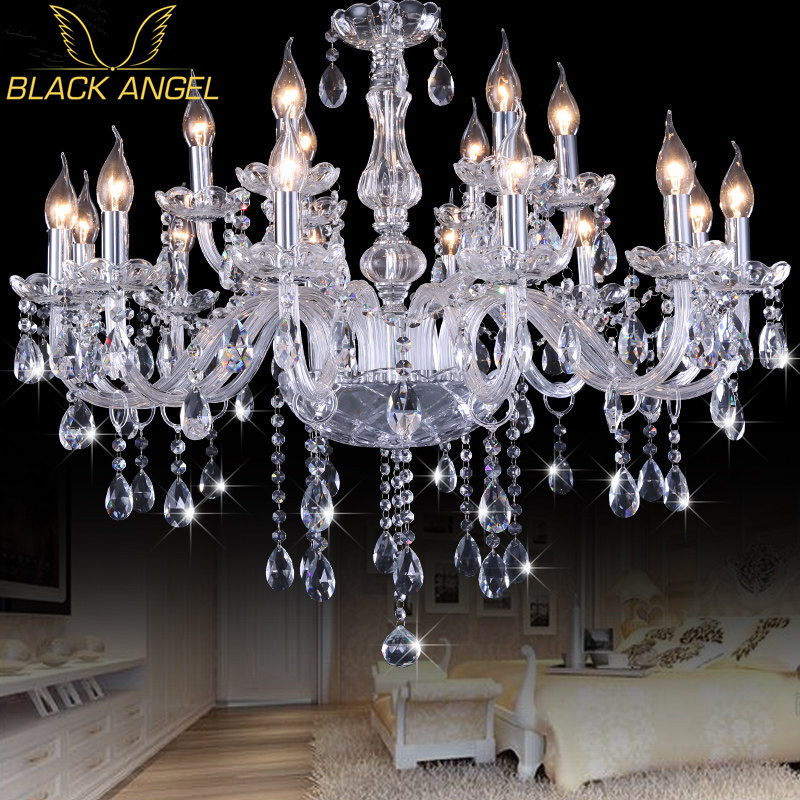 Modern K9 Crystal Chandeliers lustres de cristal lamparas de tech Chandelier Lighting Fixture For Living Room