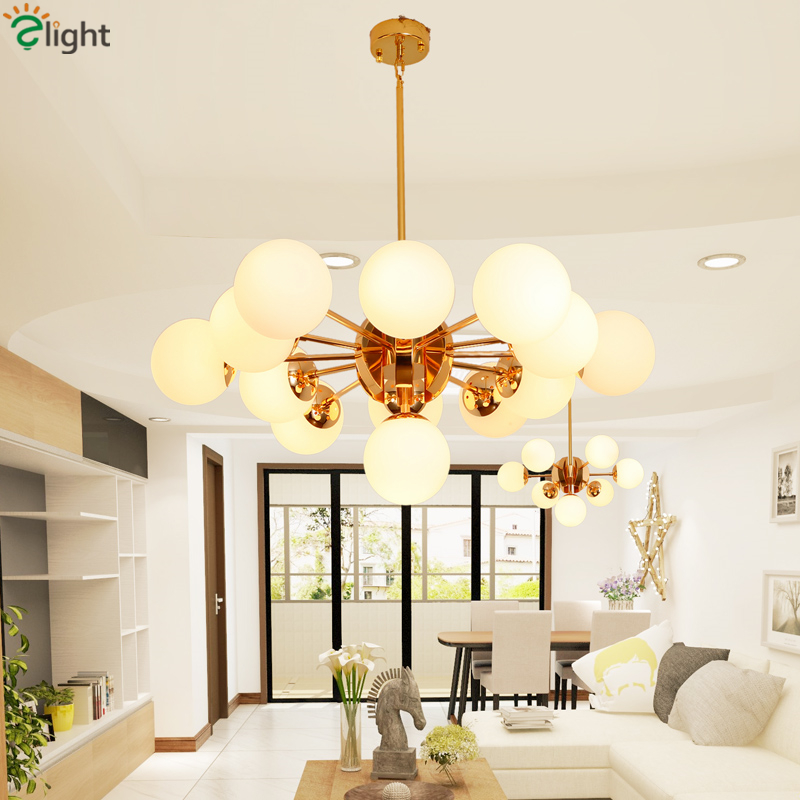 Nordic Minimalism MODO E27 Chandelier Post Modern Globes Gold Led Chandelier Dining Room Pendant Chandelier Lamparas Fixtures