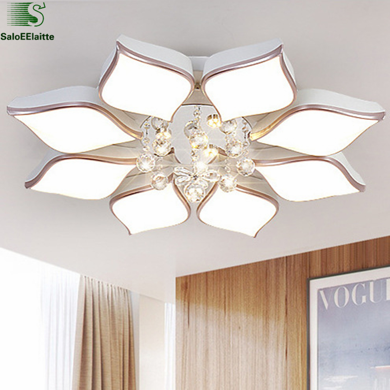 Modern Minimalism Led Luminarie Ceiling Chandelier Lustre K9 Crystal Dimmable Chandelier Lighting Indoor Lighting Fixutres
