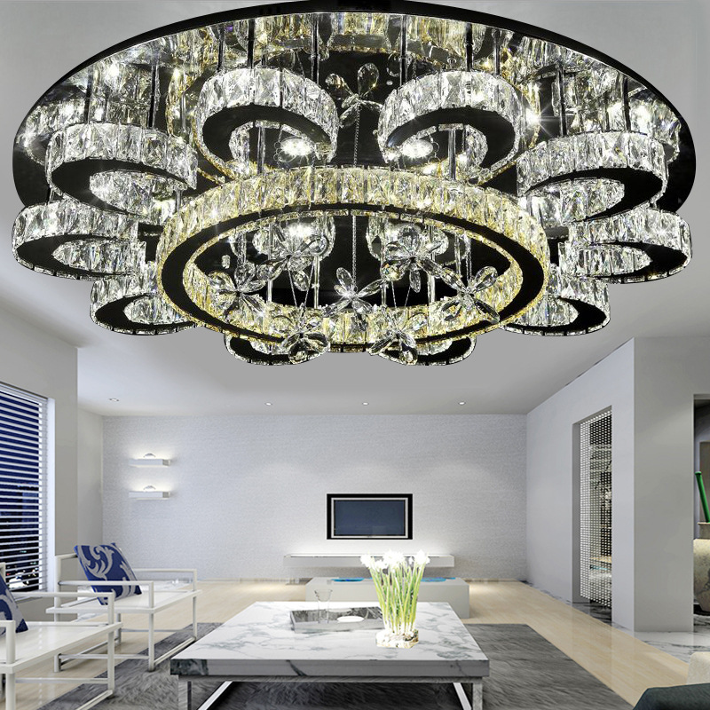 Ceiling Lights & Fans New Fashion Antique Gold Chandelier Crystal Lighting For Dining Room Shopcase Glass Shade Home Lighting E27 Led Hotel Fixtures Luminaria Chandeliers
