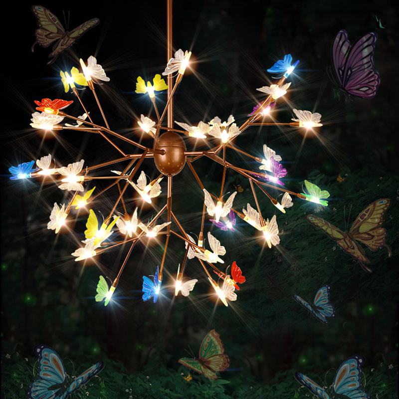 45 lights Modern Pendant Lamp Firefly Butterfly Chandeliers Lights LED Chips Art Decoration for Living Room Restaurant