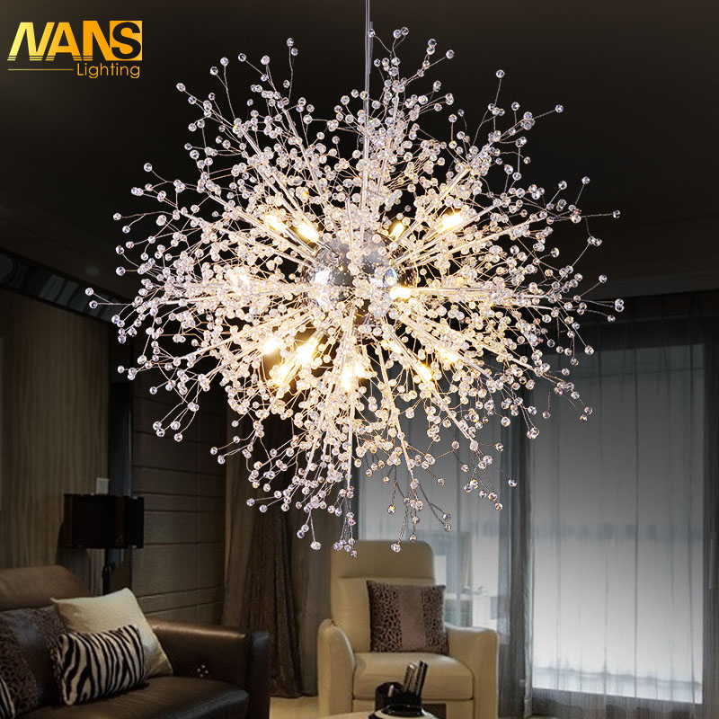 NANS  Clear Crystal LED  Chandelier Export Class A K9 Crystal Lamp Chandeliers lustres de cristal lampadario moderno avizeler