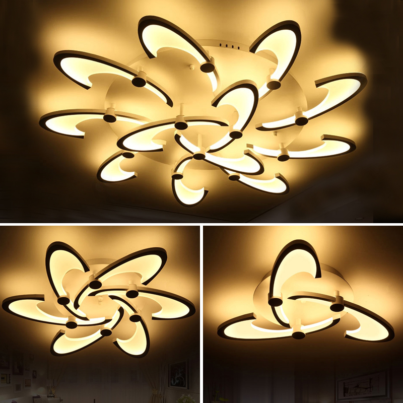 New Arrival White LED Ceiling Chandelier For Living Study Room Bedroom Aluminum Modern Led Ceiling Chandelier