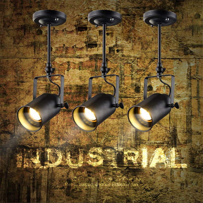 LED E27 220v  110V American Loft Vintage pendant light Personality Wrought Iron lights Edison nordic lamp industrial  la