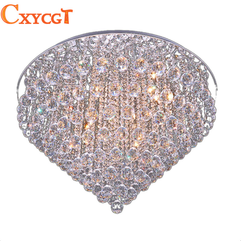 2017 Luxury LED Modern Luster Crystal Chandelier Lights Faixture For Foyer Bedroom Hotel Project Flush Mounted G4 Lamp