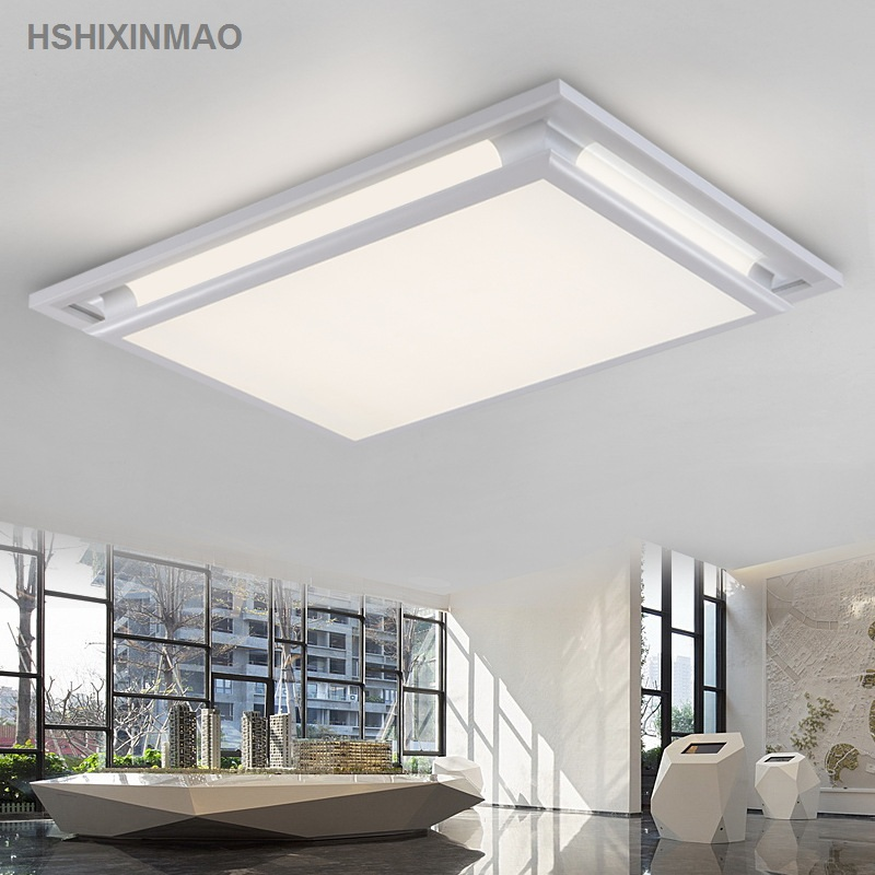 Led acrylic rectangular living room ceiling lamp creative home European square bedroom study Ceiling lights AC100-240V
