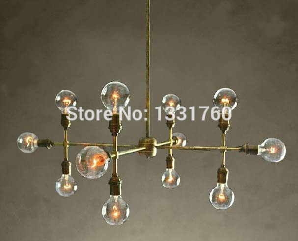 12 heads chandelier for living room hotel hall museum modern pendant lamp bronze color unique design suspension lighting