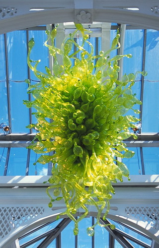 Saving Chandelier Light Color Green Chihuly Style Hand Blown Glass Large Hanging Chandeliers