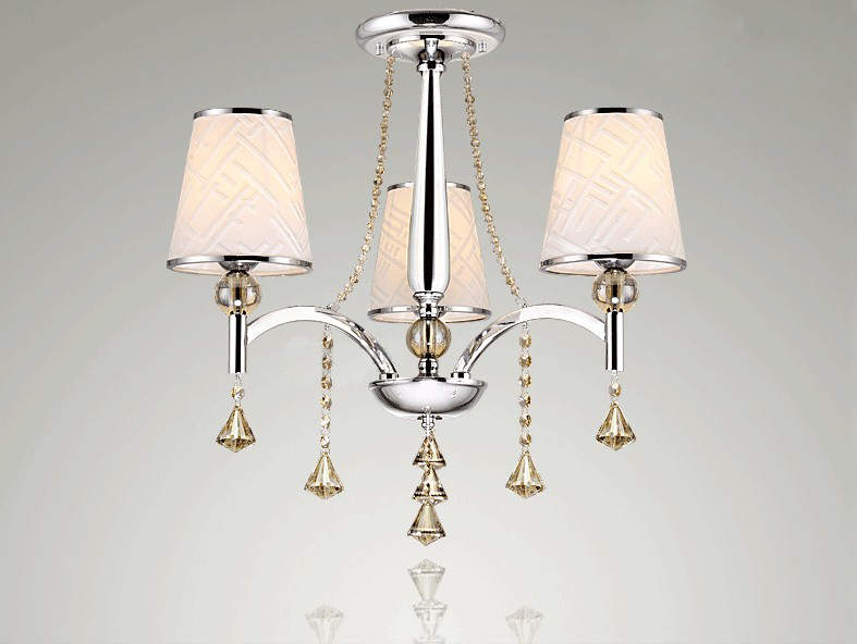 Continental Iron chandelier dining lamp bedroom lamp lighting living room modern minimalist cloth