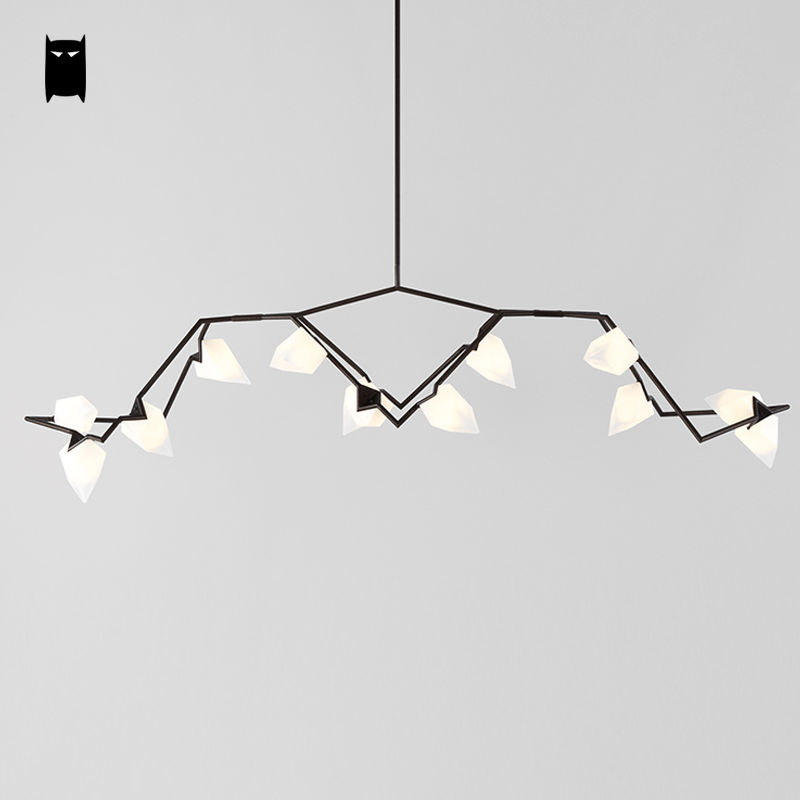 2/5/8/9/12 Gold Black Seed Chandelier Light Fixture Modern Nordic Hanging Lamp Lustre Avize Luminaria Dining Table Living Room