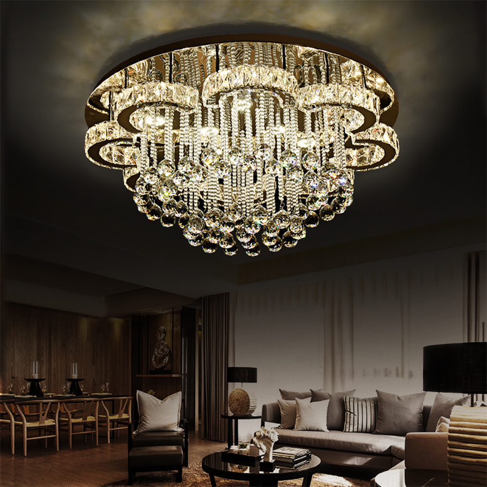 Modern Crystal Chandelier K9 Crystal Luminaria 110V-220V Home Lighting Living Room Chandelier Ceiling Home Lighting Led Light
