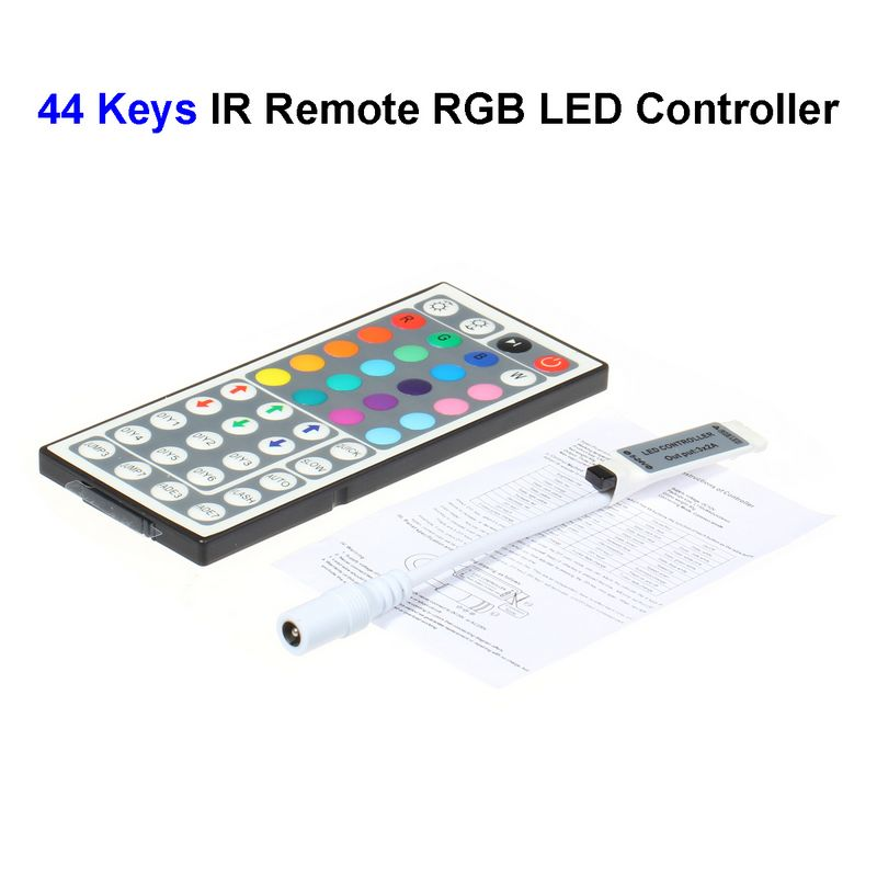 20pcs Mini DC12V 44 Keys Wireless RGB LED Controller With IR Remote Control For SMD 3528 5050 5730 5630 RGB LED Strip