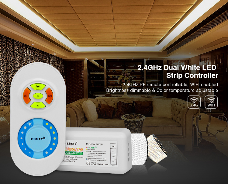 2.4G CCT Controlller RF 6A/channel Touch Remote Control two color adjusting DC12-24V For Two Color LED Strip Freeshipping