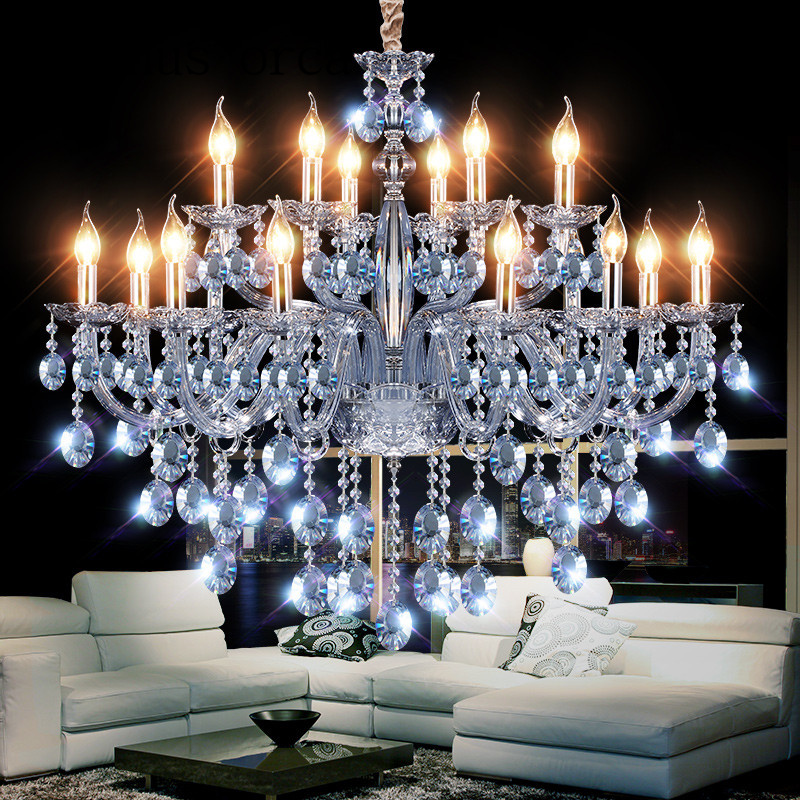 New Mediterranean Fantasy Crystal Chandelier bar coffee shop clothing store post-modern personality water Blue Chandelier