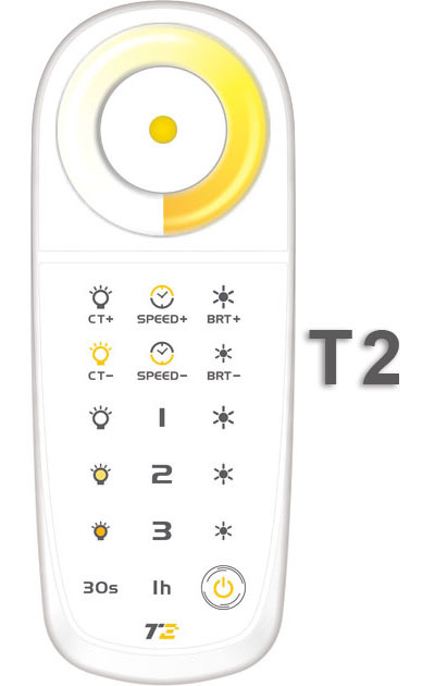 T2 2.4G LED touch controller;sync control unlimited receivers;DC5V built-in Lithium battery