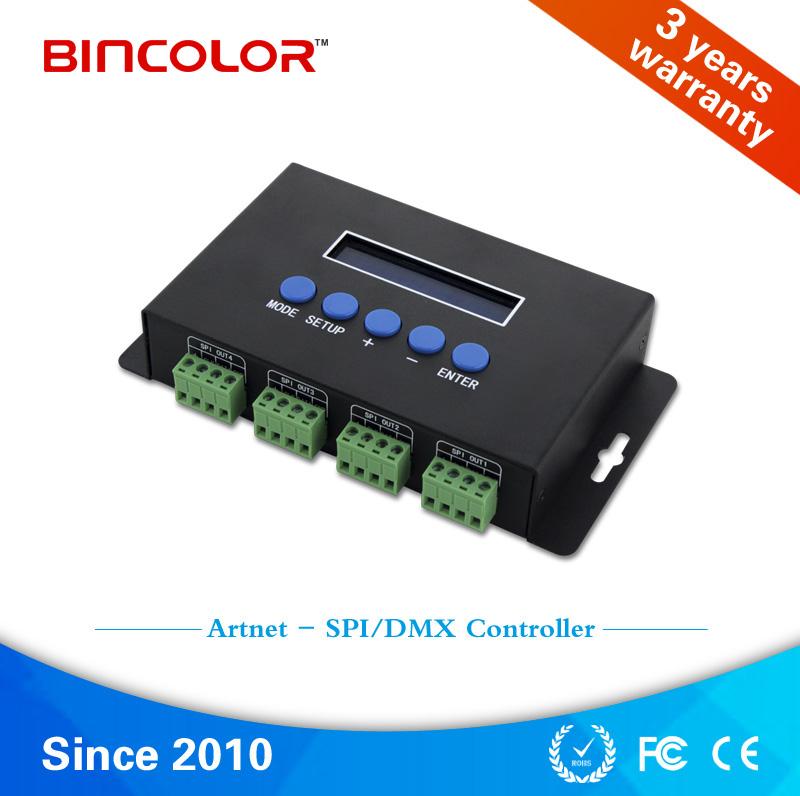 best cheap 53234 95246 5V 12V 24V 4 channels SPI /DMX pixel light artnet ws2811 ...