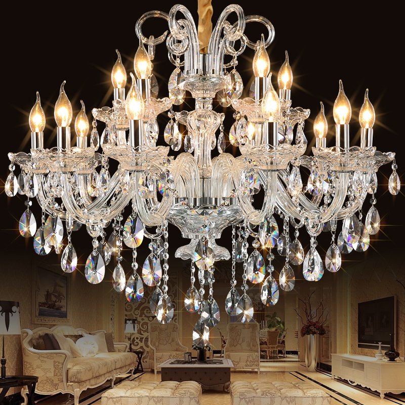 New luxury Modern K9 crystal chandelier Lustres de Cristais ceiling living room pedant ceiling lamp home light fixtures