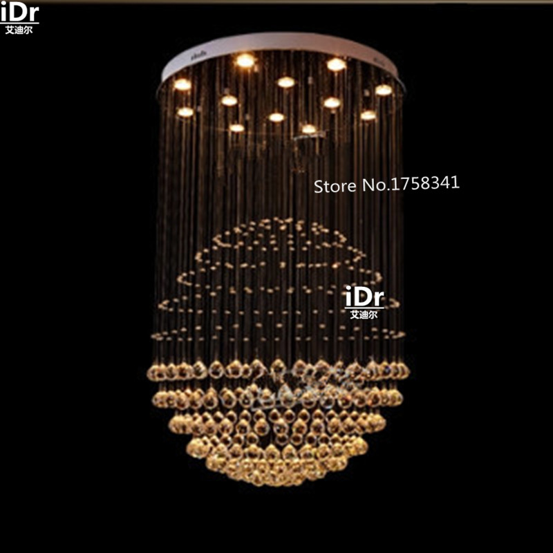 Modern villa club hall staircase chandelier crystal modern creative living room chandelier lighting 100% quality guarantee