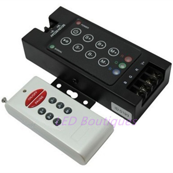 10A*3channels 6key RF remote Wireless RGB Controller Dimmer for 5050 3528 2835 led strip light ribbon DC12-24V