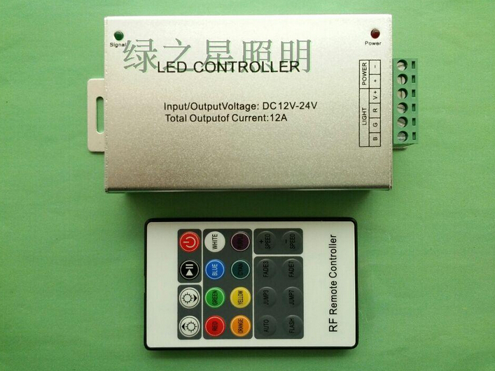 20keys LED wireless RF controller DC12V-24V 12A LED lights RGB 5050 2835 LED lamp bars can be use Remote/can wear a wall
