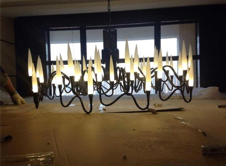New luxury Italian chandeliers sitting room the bedroom of white/black art exhibition hall lamp villa led cold white/ warm white
