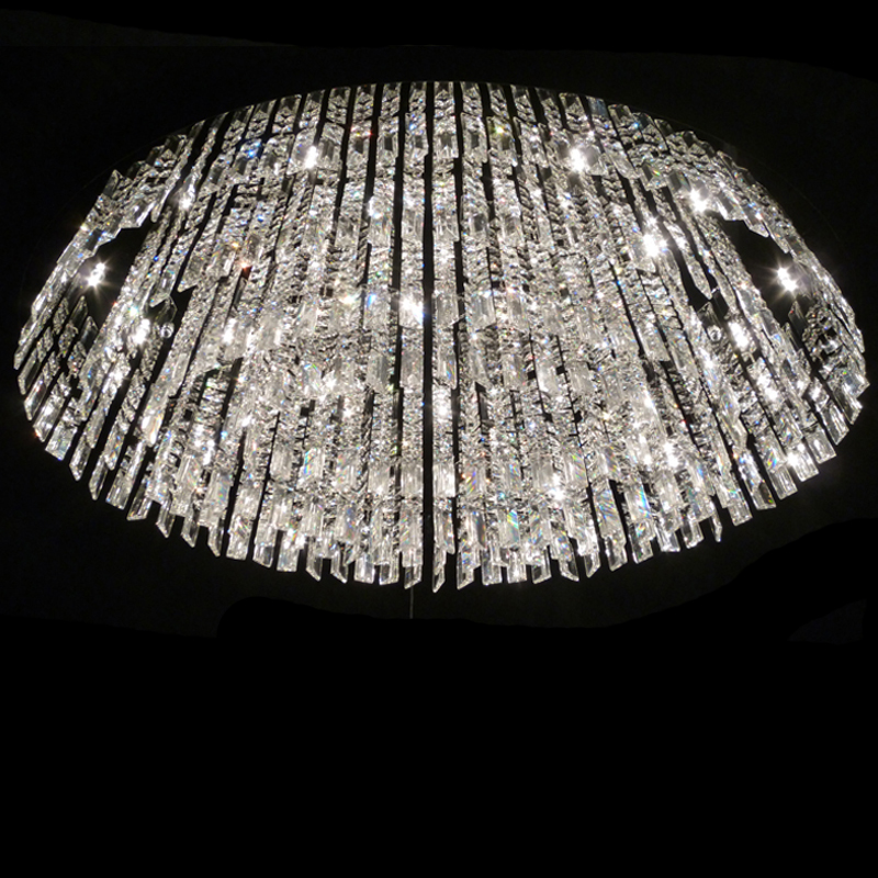 Modern K9 crystal living room ceiling lamp oval dining room ceiling
