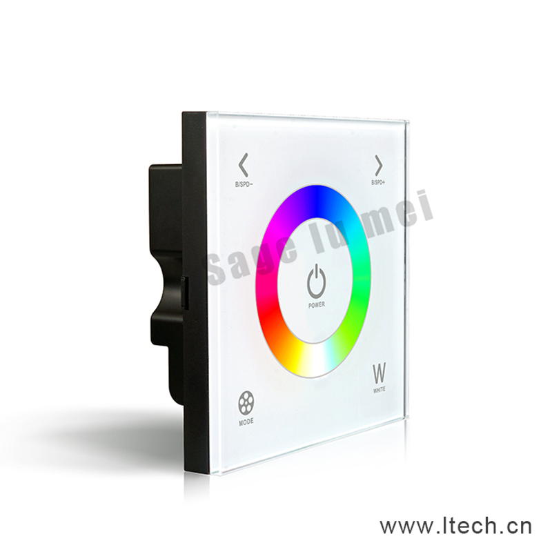 2017 Limited New Ccc D4 Touch Led Rgbw Controller Dc12-24v 4a*3ch Output Glass Touchable Wall Mount Full Color Panel Dimmer