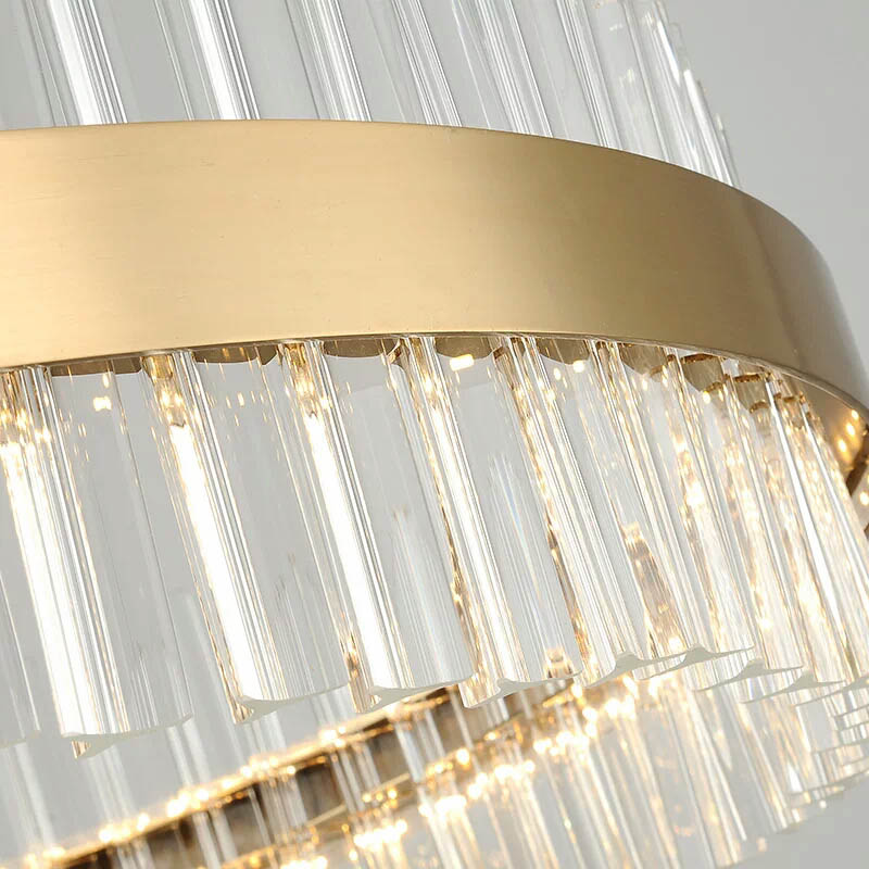 LED Lustre Post-modern Chandeliers crystal lamp of living room lights gold Chandelier Luminaire Lampen