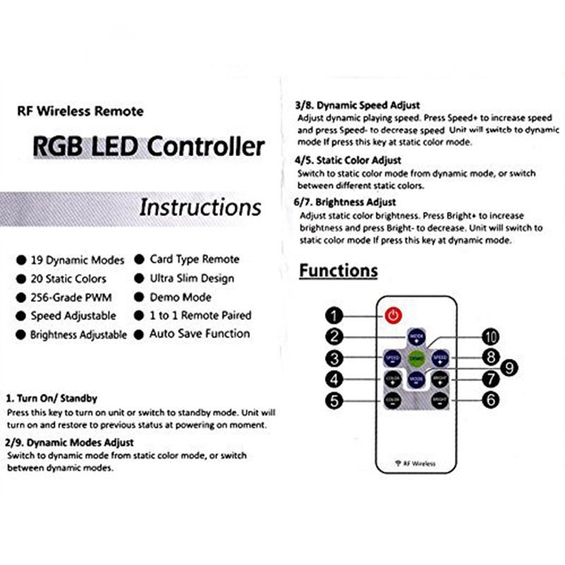 1//2//5 × LED 3528 5050 Single Color LED Light Strip Mini 3 Key Dimmer Controller
