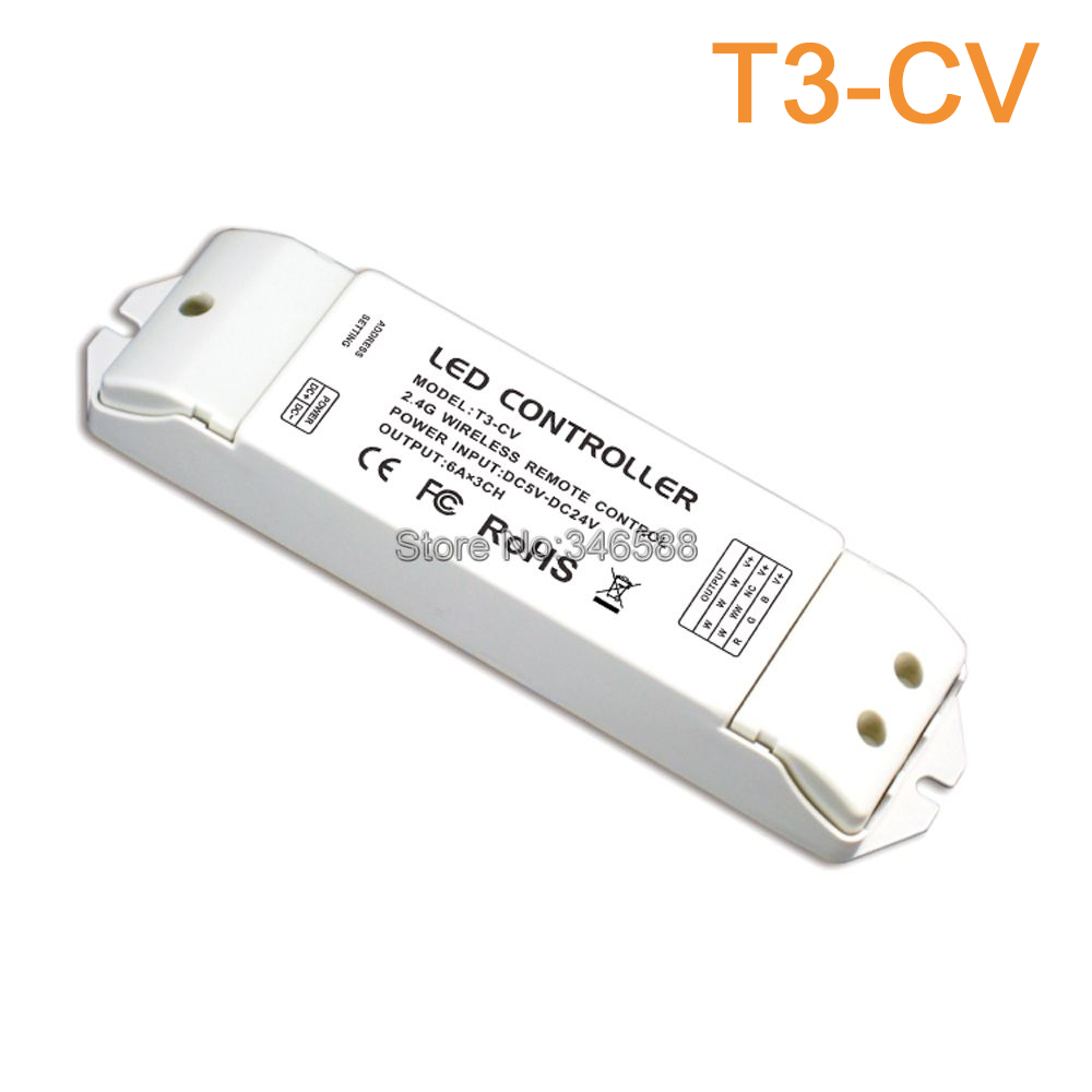 T2M 2.4G LED Touch Color Temperature Remote Sync Zone Control Built-in Lithium Battery & T3-CV or T3-CC Receiving Controller