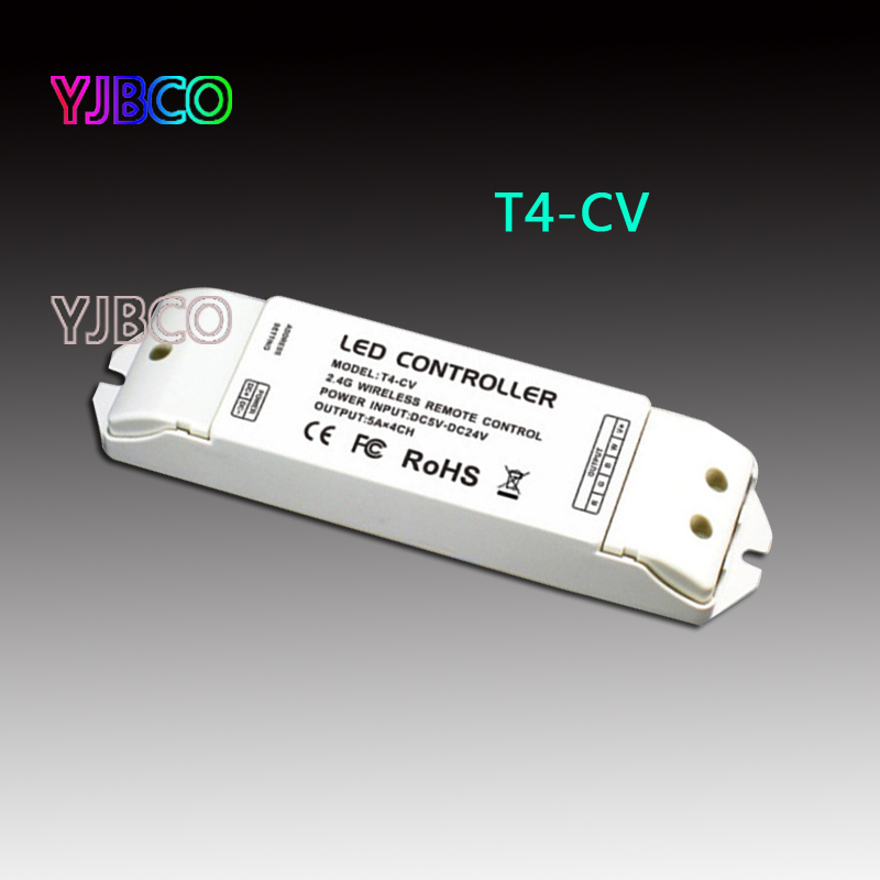 T4-CV 2.4G Wireless Receiving controller Constant Voltage LED Receiver Suitable for T1, T2, T2M, T3, T3M, T3X, T4 Remote Control