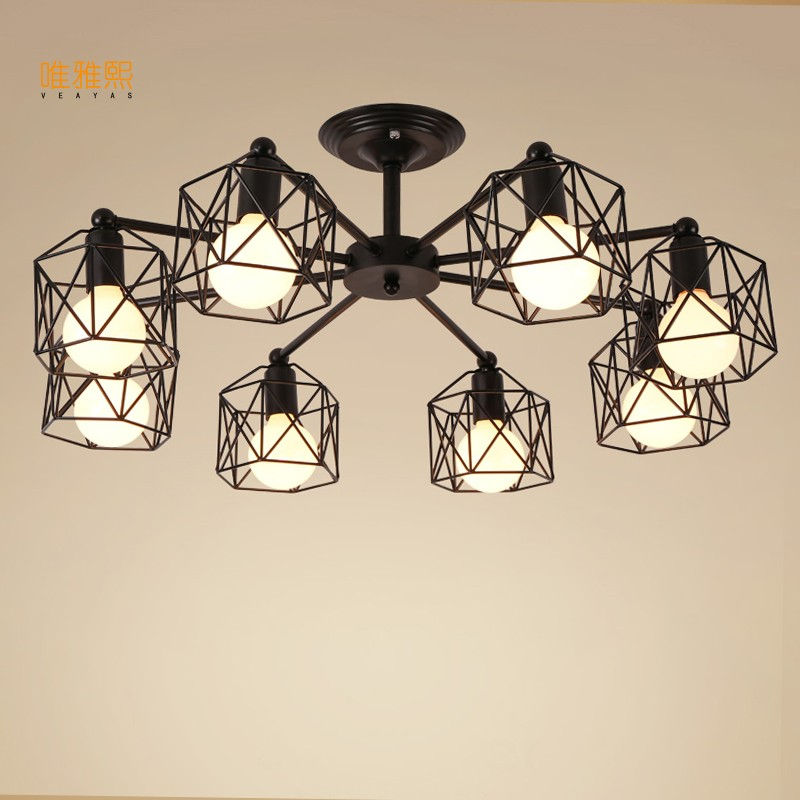 Mordern  Retro Bulb Light Chandelier Vintage Loft Antique   Art  Ceiling Lamp Fixture Light