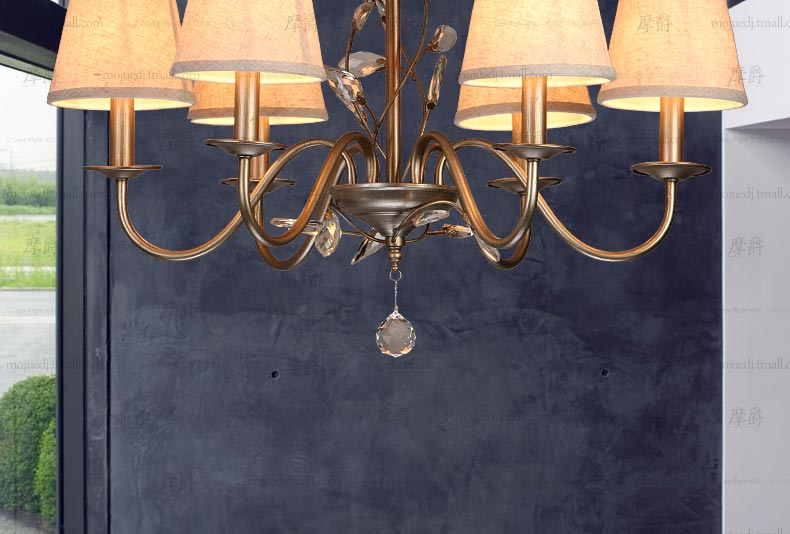 Simple American Iron Chandelier  Lampadario Chandelier Lustre dining room lamp
