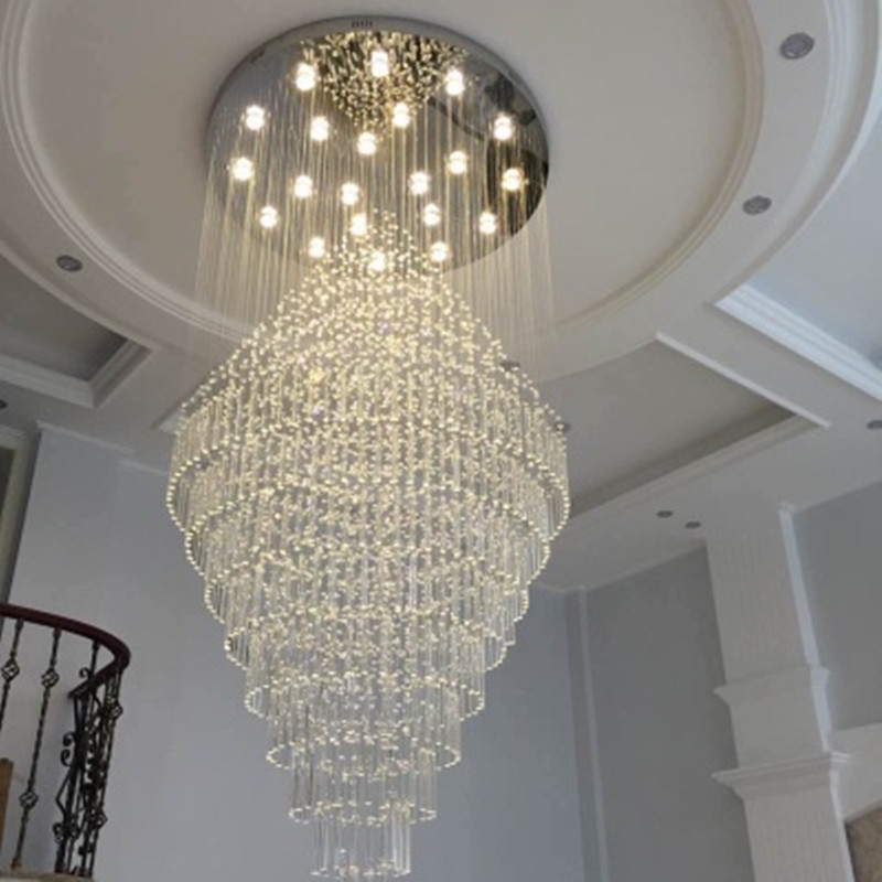 Cristal Upscale K9 Crystal Chandelier Stairs Large Led