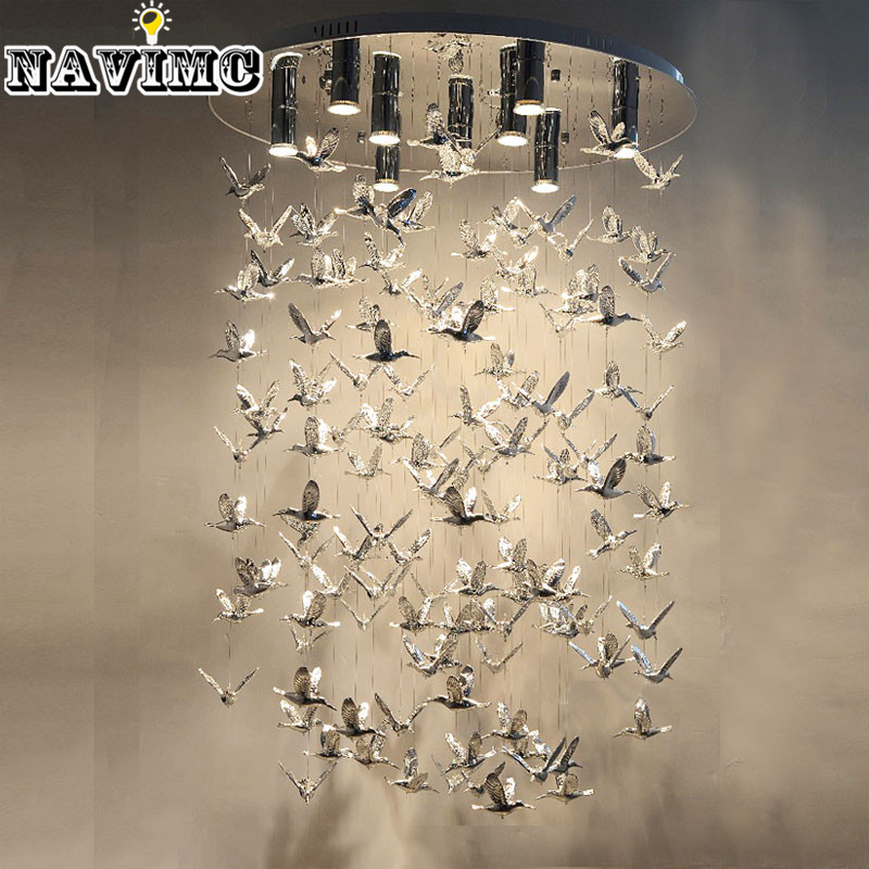 premium selection a367d f5597 Modern Fly Bird Chandelier Lighiting Ceiling Lamp for Foyer ...