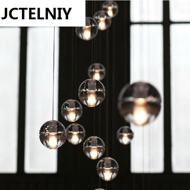 HOT  36 LIGHTS CONTEMPORARY CLEAR CAST GLASS SPHERE / BALL  CHANDELIER WITH POLISHED CHROME ROUND STAINLESS STEEL BASE