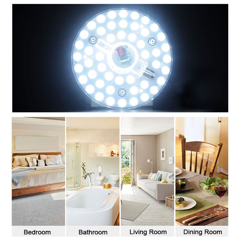 Ceiling Lights & Fans Trend Mark Dimmable Downlight 24w 32w 40w Led Panel Natural White Round Panel Lights Ceiling Recessed Lamps Ac 220v 240v White Warm White