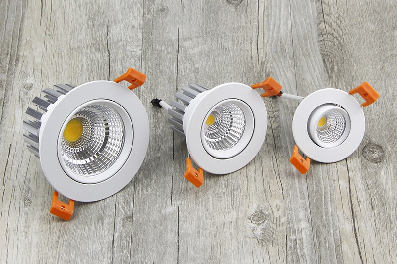 [DBF] New model LED Dimmable Downlight COB 6W 9W 12W 15W 18W 24W LED Spot light LED decoration Ceiling Lamp AC 110V 220V
