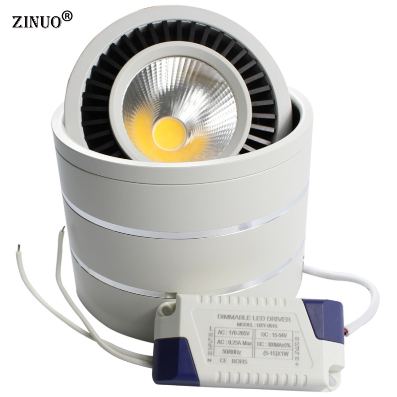 Ultra Bright 7w 12w Led Ceiling Wall Light Flush Mounted: ZINUO Surface Mounted LED Downlights 3W 5W 7W 9W 12W High