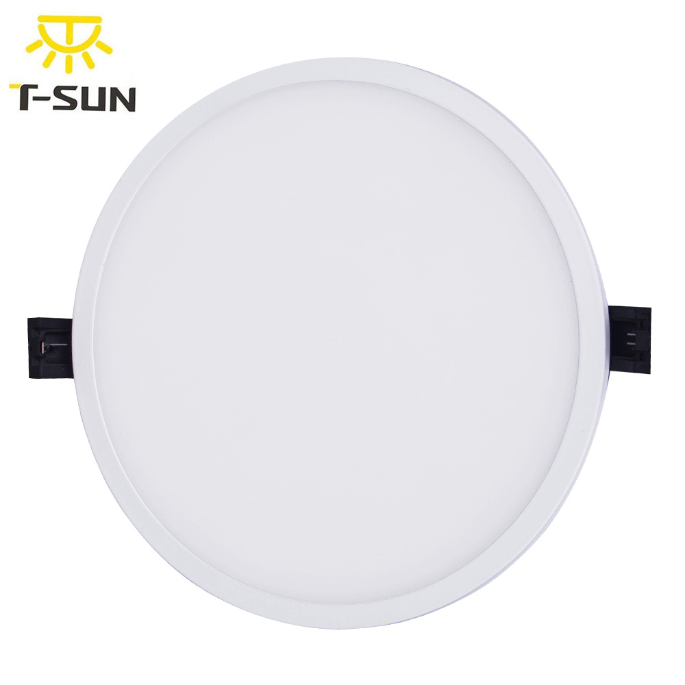 4 PCS PACK LED Panel Downlight with Black Base Round Shape Surface Mounted Downlight lighting for LED Home Lighting