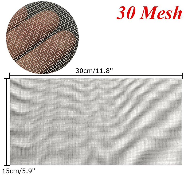 1pc Stainless Steel Woven Wire High Quality Screening Filter Sheet 5/8/20/30/40 Mesh
