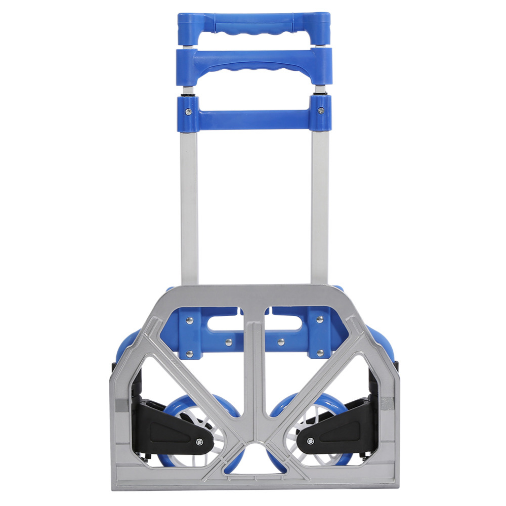 Tool Parts Walfront Aluminum Alloy Folding Trolley 80kg Heavy Duty Luggage Foldable Truck Stair Climbing Wheels Transport Tools Parts New Available In Various Designs And Specifications For Your Selection