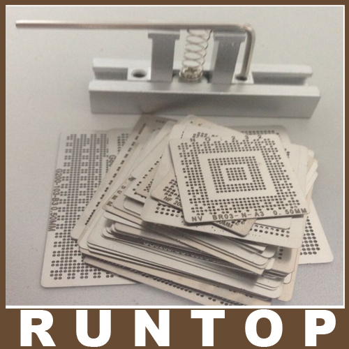 for Laptop 139 pcs /set  Bga Reballing Stencil Template Kit