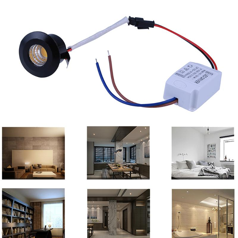 1W LED Cabinet Downlights Mini Spot Recessed Dimmable Down Lamp for Cabinet Showcase Include Led Driver White,Warm white Light